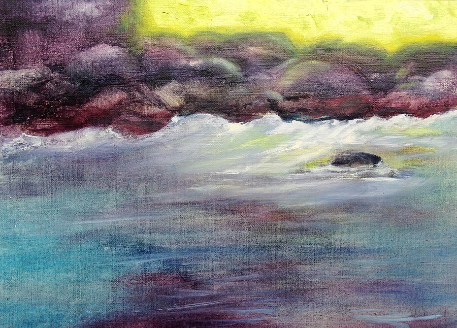 Vibrant Painting - First Light At Hulihee by Richard Rochkovsky