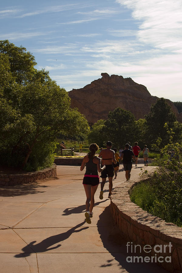 First Light In Garden Of The Gods 10 Mile Run Photograph