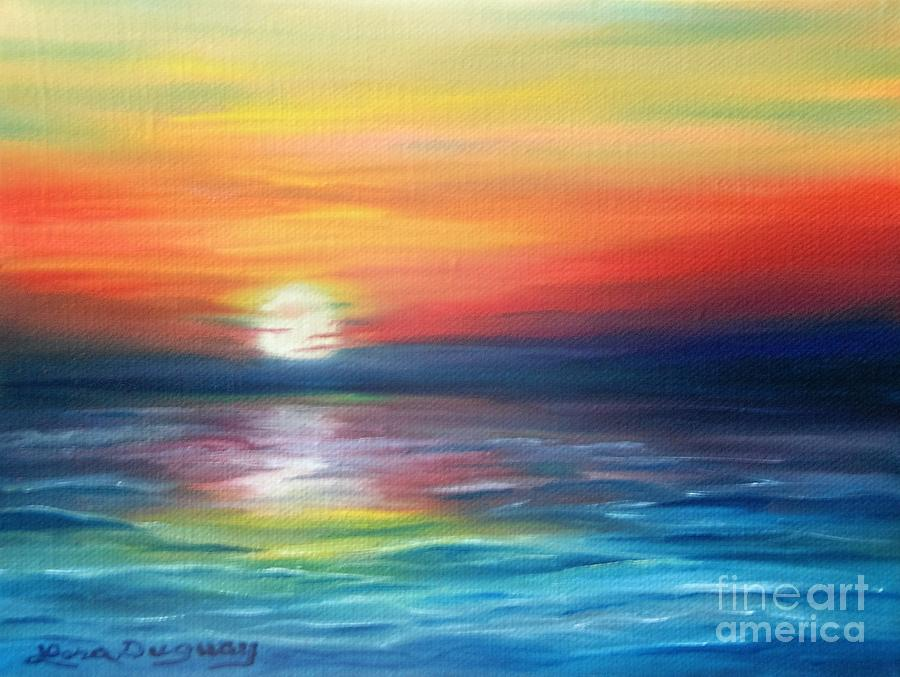 Sunrise Painting - First Light by Lora Duguay