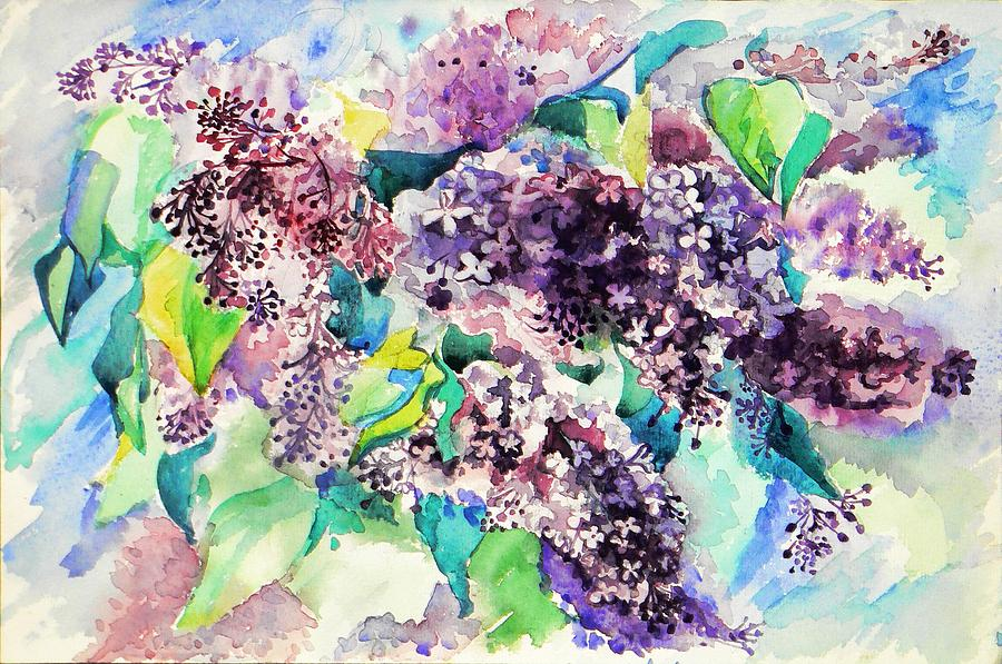 Watercolor Painting - First Lilac. by Anastasia Michaels