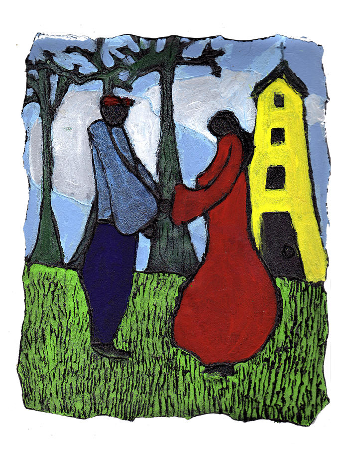 Love Painting - First Love by Wayne Potrafka