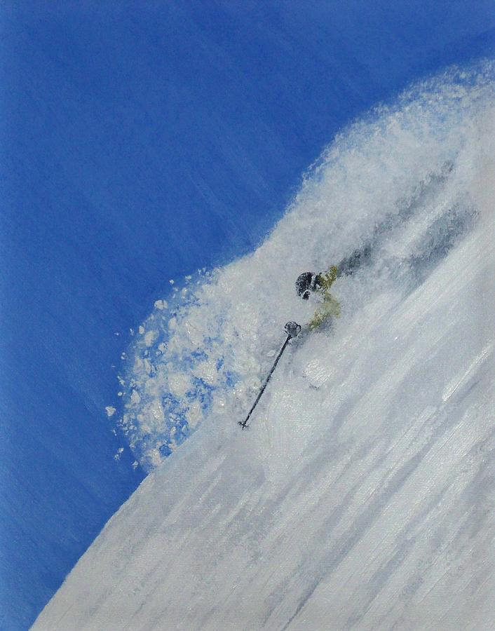 Ski Painting - First by Michael Cuozzo