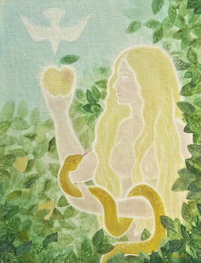 Eve Painting - First Mother by Bernadette Wulf