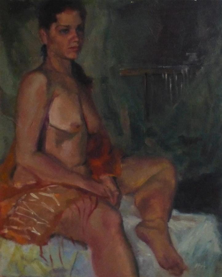 Girl Painting - First Night by Irena Jablonski