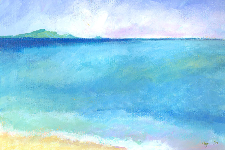 Seascape Painting - First Of Summer by Angela Treat Lyon
