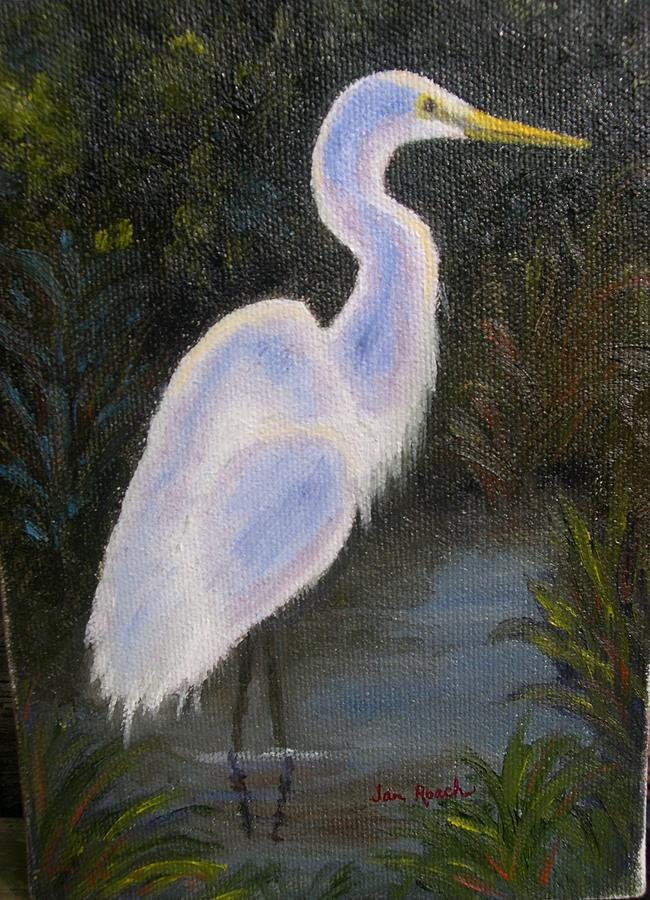 Bird Painting - First Outing by Jan Roach