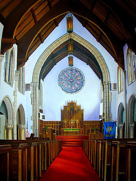First Presbyterian Church Interior Painting by Terri  Meyer