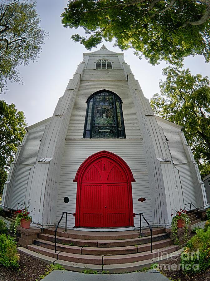 First Photograph - First Presbyterian Church Of Hackettstown by Mark Miller