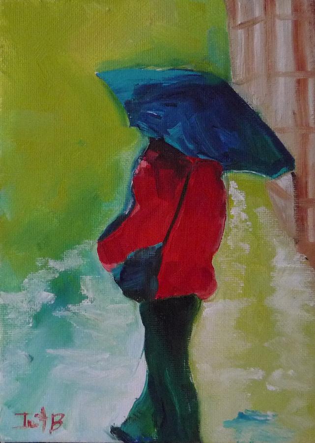 Figurative Painting - First Rain by Irit Bourla