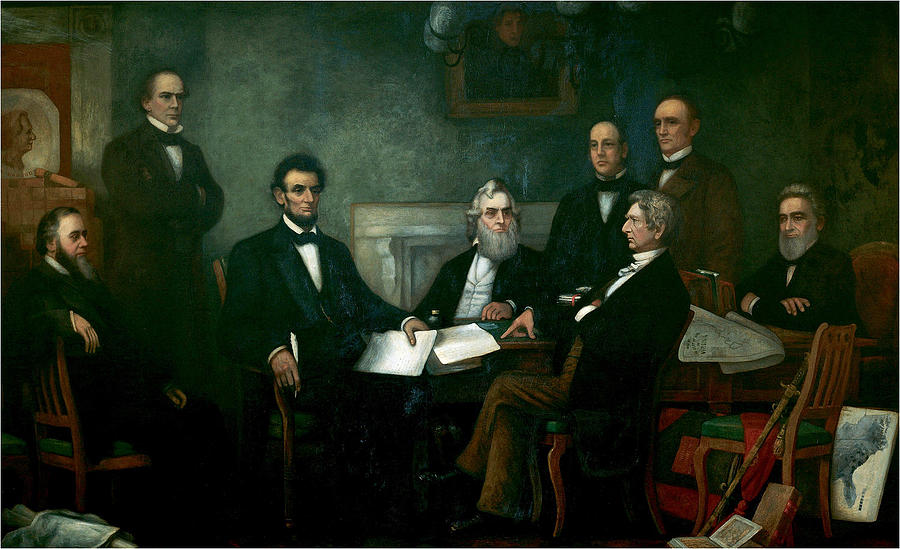 Francis Bicknell Carpenter Painting - First Reading Of The Emancipation Proclamation Of President Lincoln by Francis Bicknell Carpenter