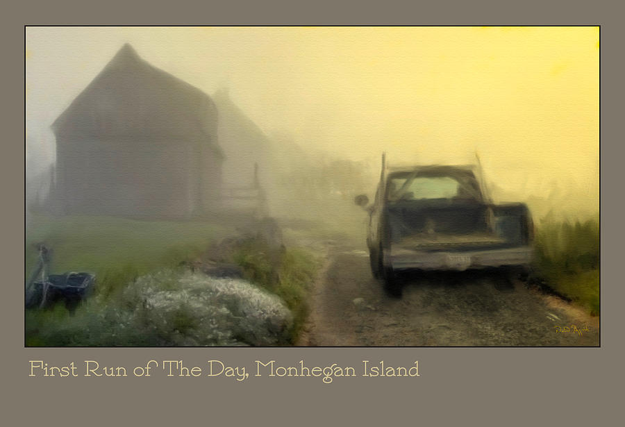 Mohegan Island Photograph - First Run Of The Day, Monhegan Island  by Dave Higgins
