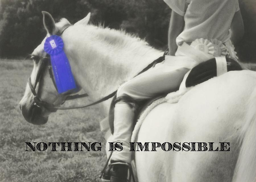 Horse Photograph - First Show Quote by JAMART Photography