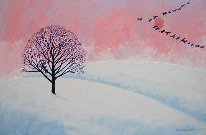 Winter Sun Painting - First Snow by James Cordasco