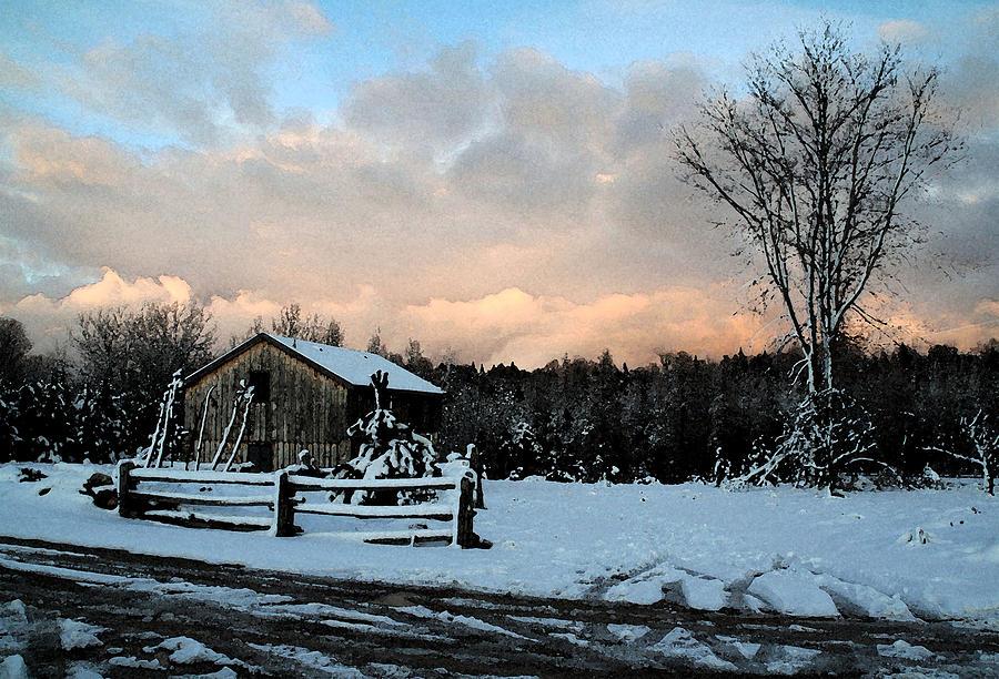 Landscapes Photograph - First Snow by Linda Joyce Ott