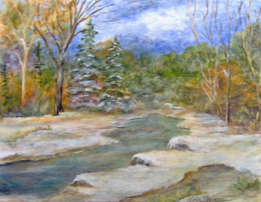 Landscape Painting - First Snow of Winter by Lorna Skeie