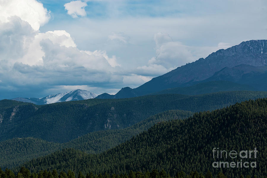First Snow On Pikes Peak Photograph