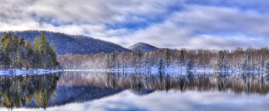 First Snow On West Lake Photograph by David Patterson
