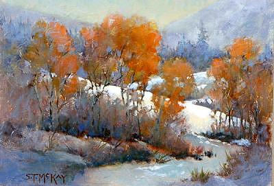 First Snow Painting by Shirley McKay