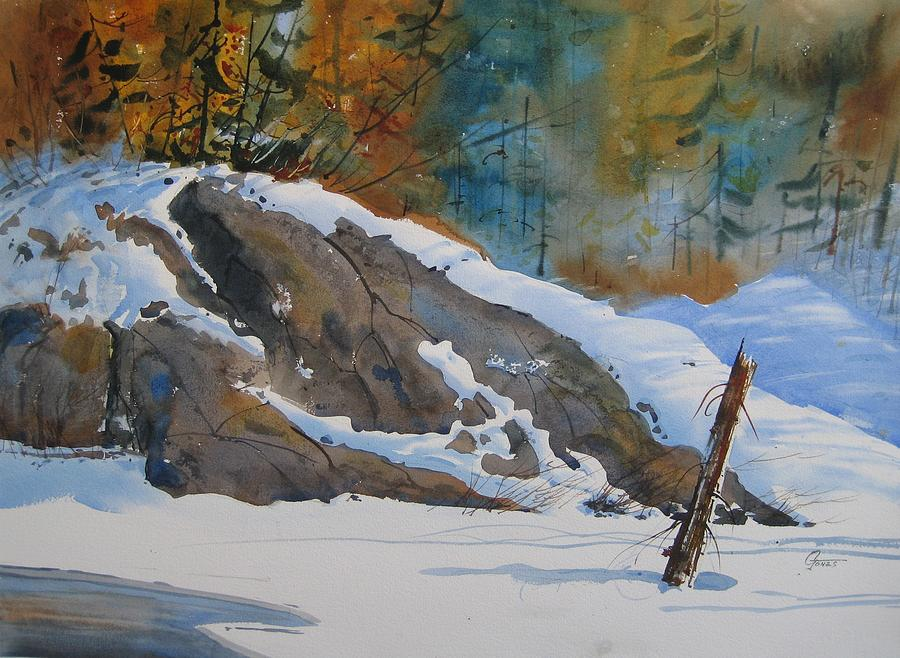 Landscape Painting - First Snow Sold by Gord  Jones