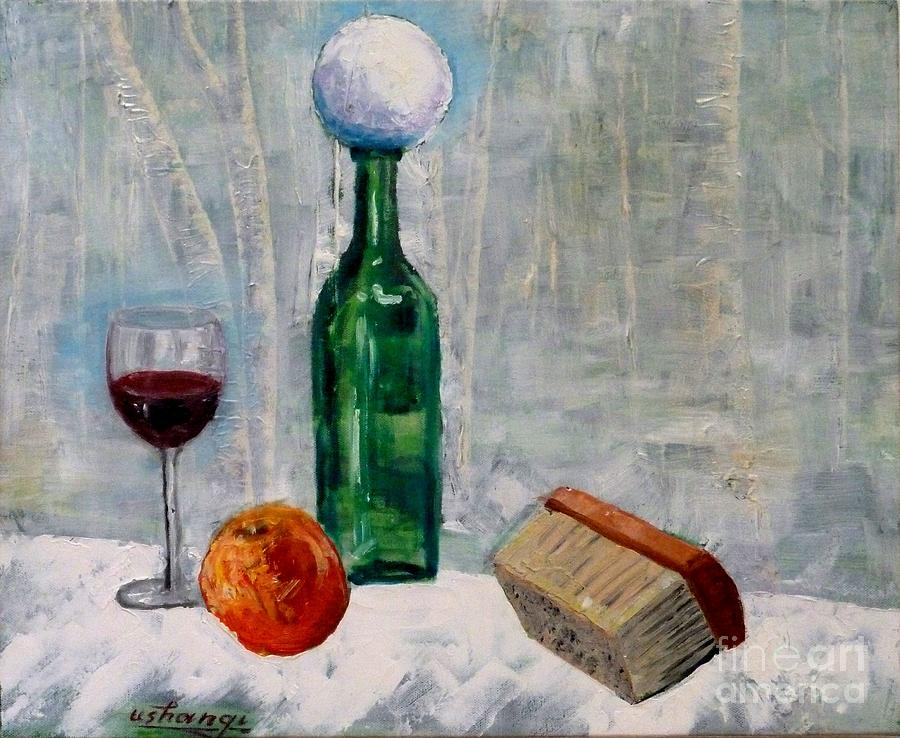 Still Life Painting - First Snow by Ushangi Kumelashvili