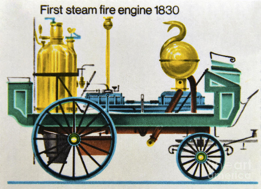 First Steam Fire Engine 1830. Photograph by Stan Pritchard First Photograph 1830