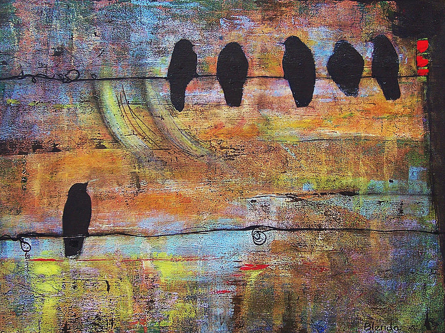 Black Painting - First Step Is The Dream by Blenda Studio
