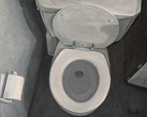 Toilet Painting - First Thing by Frank Wuts