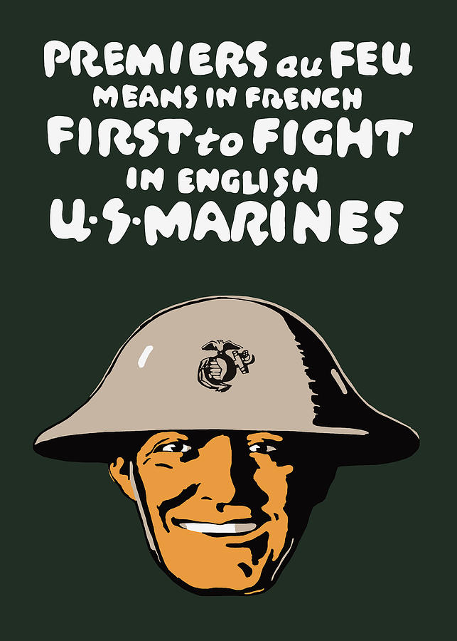 Marine Corps Painting - First To Fight - Us Marines by War Is Hell Store