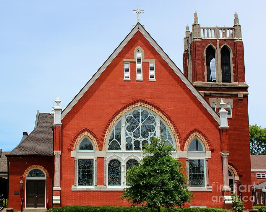 Church Photograph - First United Methodist Church Tupelo Ms by Robert Wilder Jr