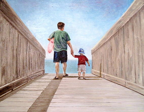 First Vacation Painting by Cindy Hall