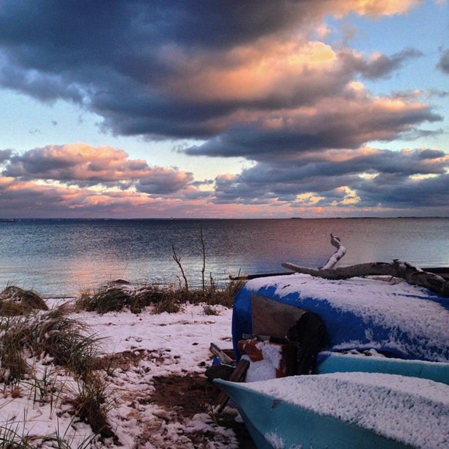 Provincetown Photograph - #firstsnow #provincetown by Ben Berry