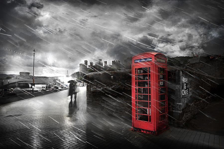 Telephone Photograph - Fish And Chips by Mal Bray