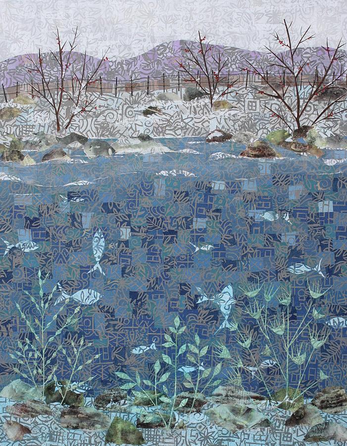 Art Collage Mixed Media - Fish And Winter by Janyce Boynton