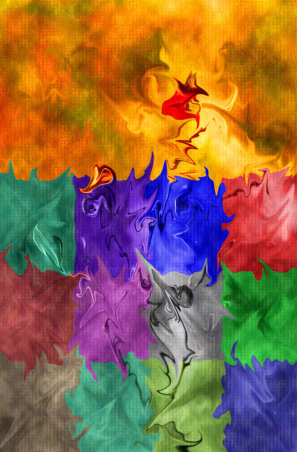 Abstract Digital Art - Fish Are Jumping by Tom Romeo