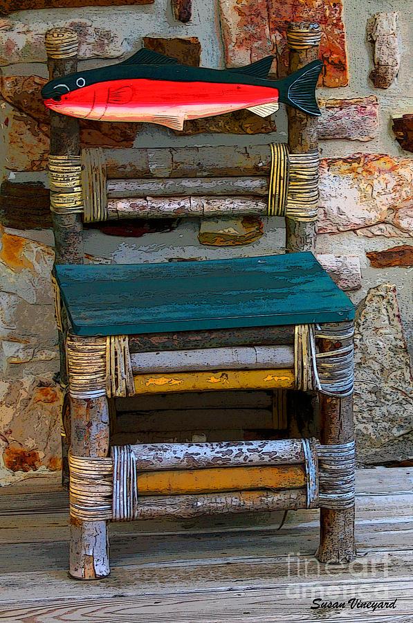Chair Photograph - Fish Chair by Susan Vineyard