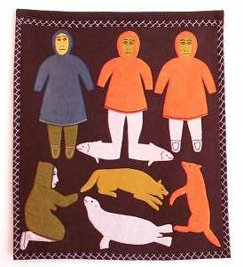 Fish Feet And Friends Tapestry - Textile by Rita Aviliayuq Oosuaq