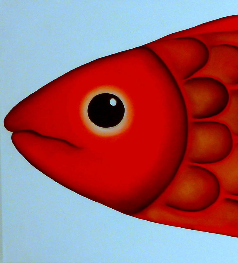 Fish head painting by georgie greene for Fish head app