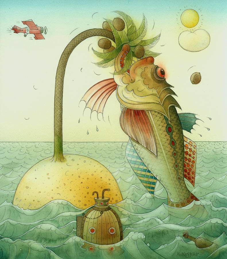 Fish Painting by Kestutis Kasparavicius