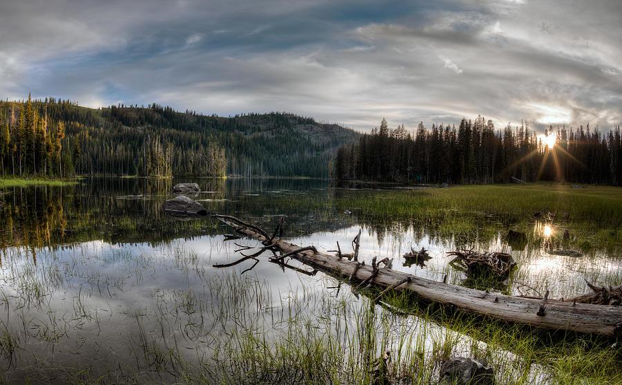 Beautiful Photograph - Fish Lake Evening by Leland D Howard