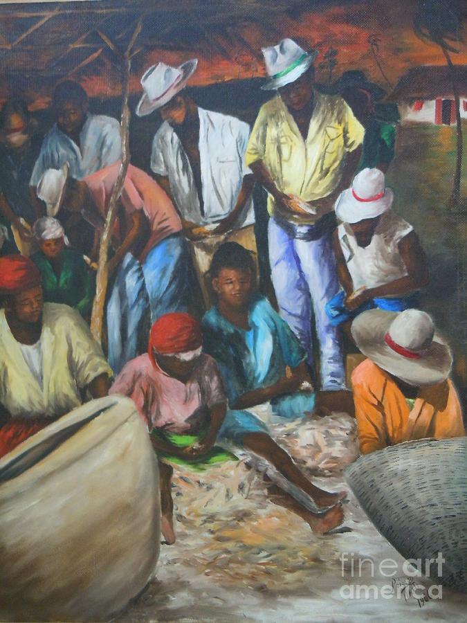 Ayiiboo Fish Market Painting