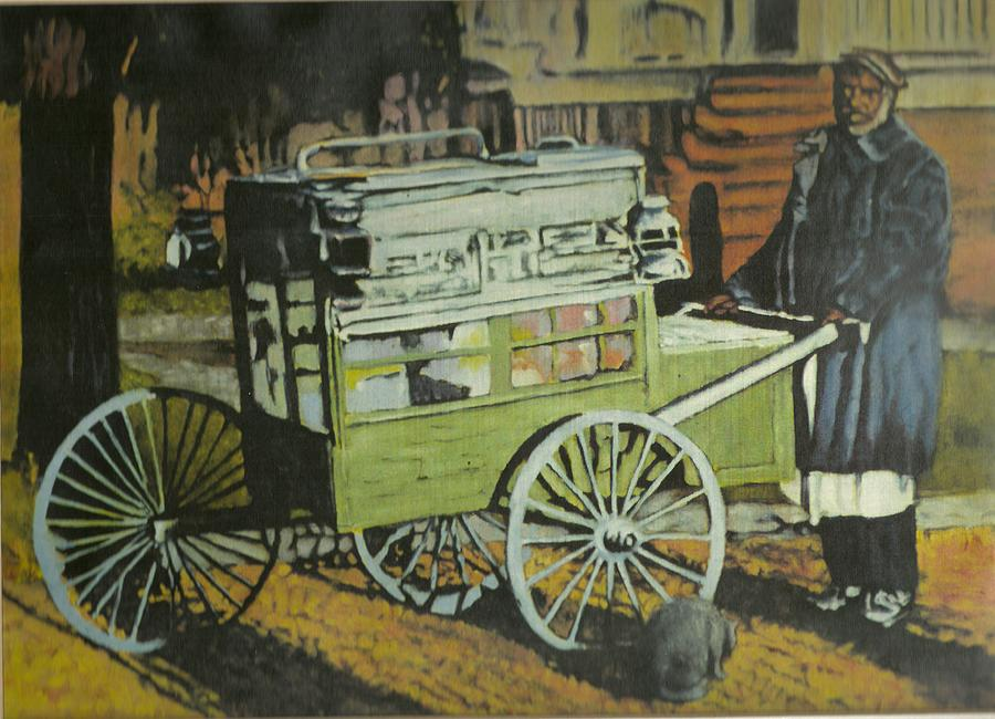 Fish Peddler Painting by Perry Ashe