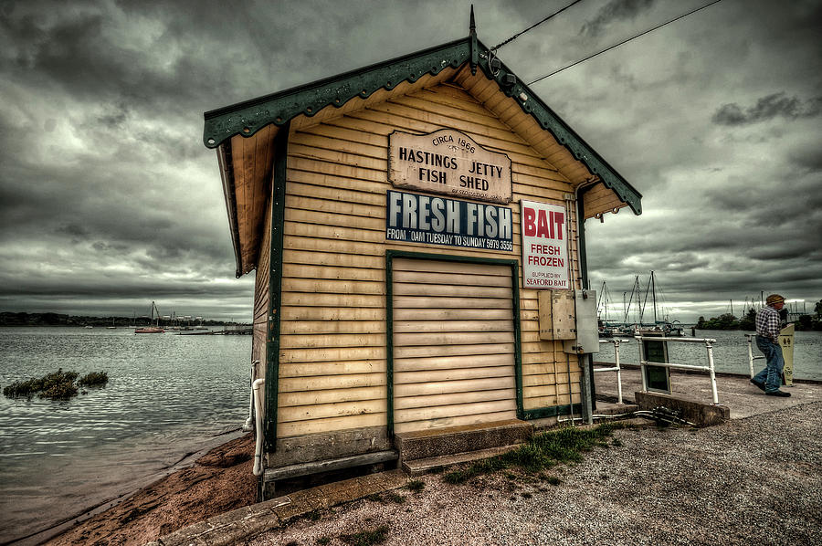 Hastings Photograph - Fish Shed by Wayne Sherriff