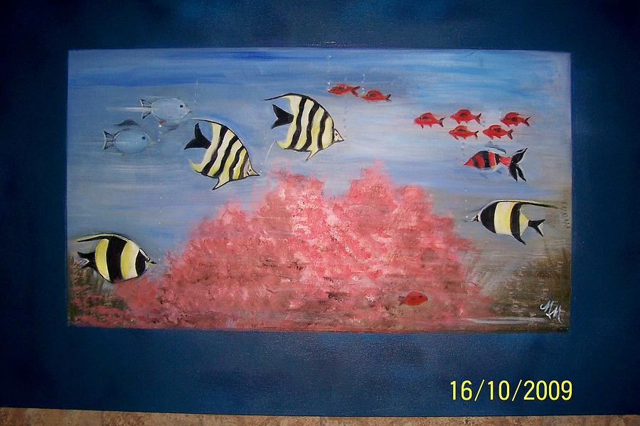 Fish Painting - Fish Tank by Martha Mullins