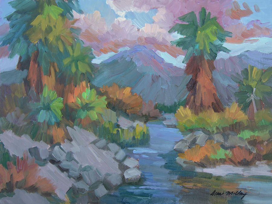 Coachella Valley Painting - Fish Trap Indian Canyon by Diane McClary