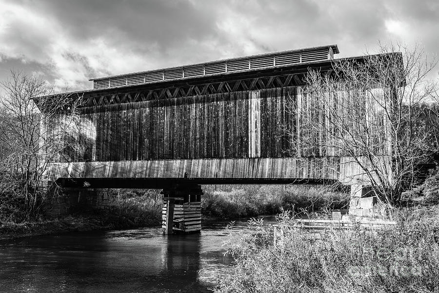 Stowe Photograph - Fisher Covered Bridge Wolcott Vermont by Edward Fielding