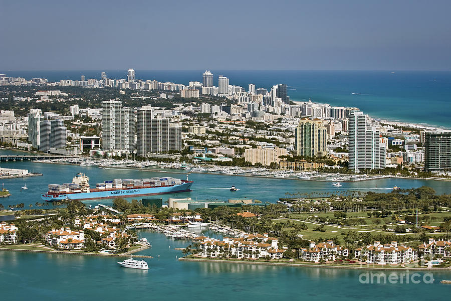 Fisher Island And Miami Beach Photograph