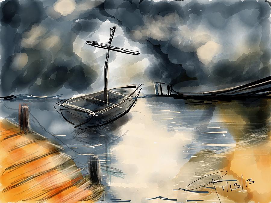 Boat Digital Art - Fisher Of Men by Rio Bautista