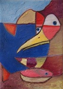 Bird Painting - Fisherbird by Scott Spencer