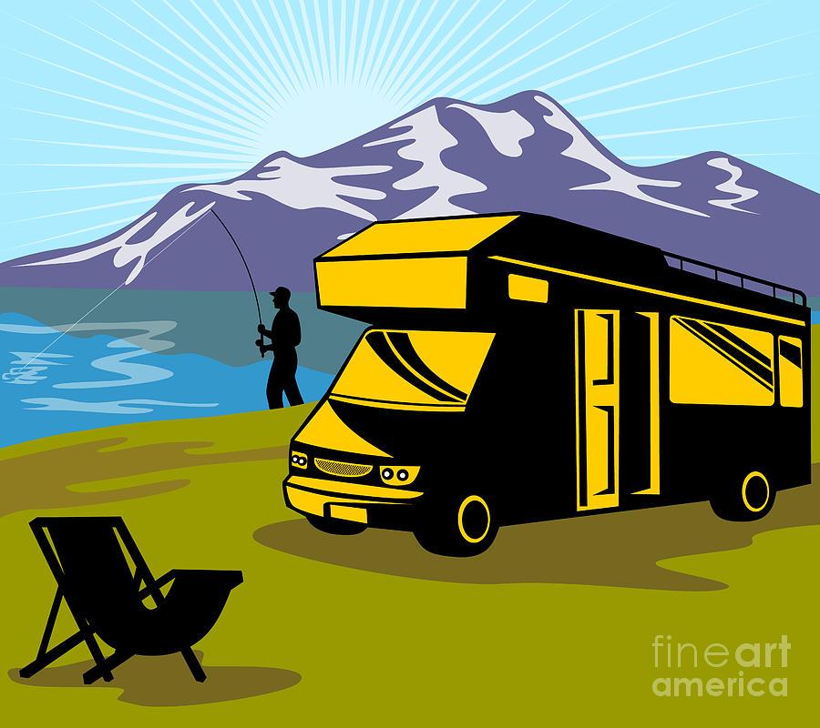 Fly Fisherman Digital Art - Fisherman Caravan by Aloysius Patrimonio