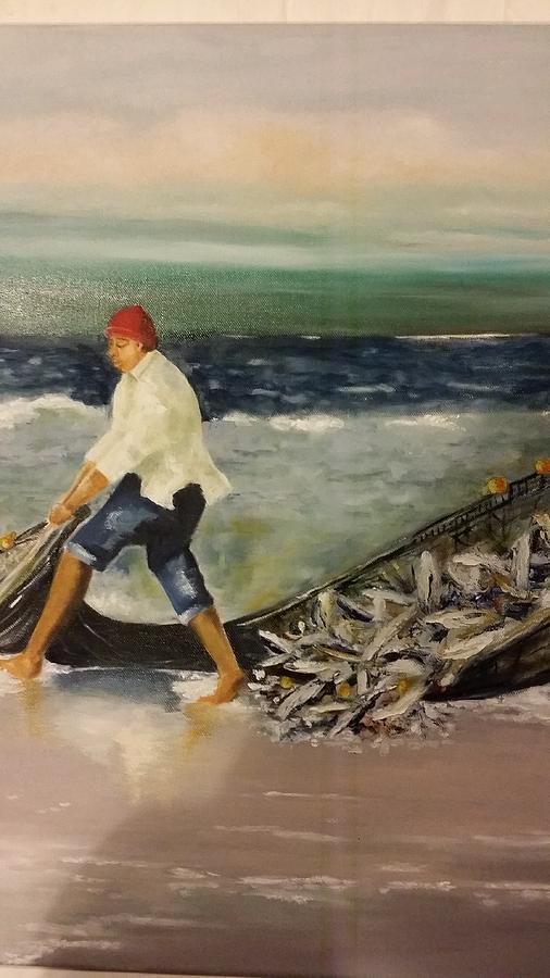 Fisherman Photograph by Elizabeth Hoare Gregory
